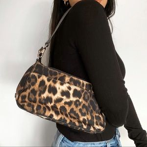 NINE WEST Cheetah Print Shoulder Bag